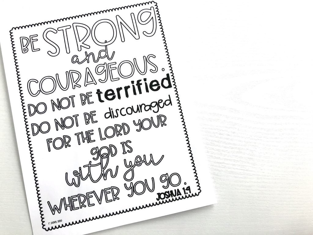 10 Best Verses about Fear for kids! When your Sunday school students need a reminder about being strong and not being scared. These verses would go well with Bible stories. Becca's Bible Class