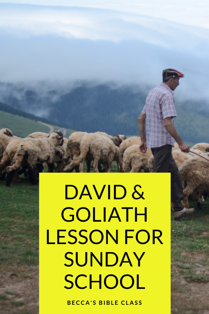 Free David and Goliath lesson for Sunday School, Children's Church, or Bible class. This free Bible lesson talks all about how David decided to be himself while fighting Goliath, and wore his own armor. Becca's Bible Class