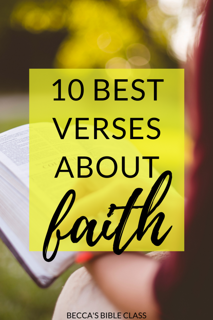 The best Bible verses about faith for your Children's Church, Sunday School, or Bible class! Becca's Bible Class