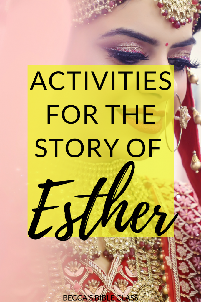 The story of Esther is one of the best Bible stories-- and kids should know it! This post includes ideas for how to teach the story of Esther with different activities for the story of Esther for Bible Class, Children's Church, or Sunday School, Becca's Bible Class
