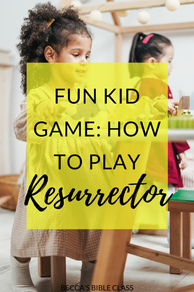 resurrector is one of my students' favorite games for Children's Church, Sunday School, or Bible Class. I usually pair it with the story of Lazurus or Jesus being raised from the dead around Easter. Becca's Bible Class