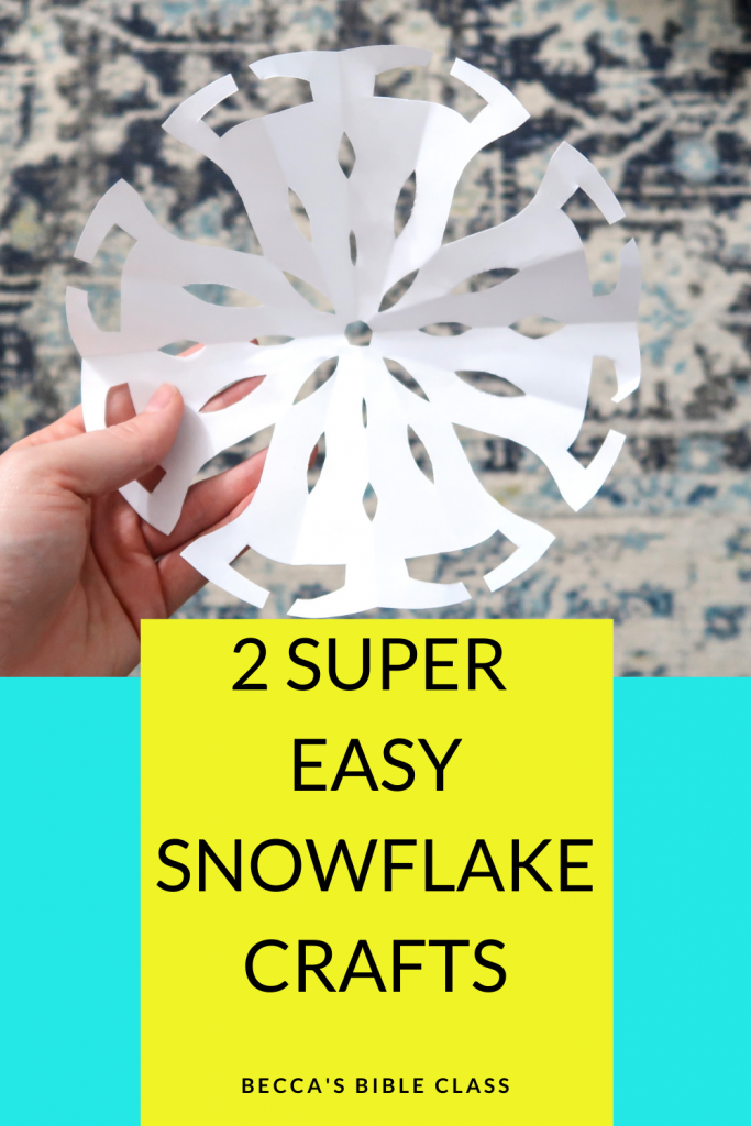 Super easy snowflake crafts to do with your children's church, sunday school, bible class, or elementary class. These are really easy DIY and are geared towards younger elementary students-- kindergarten, first grade, and second grade. Some of these crafts could even be DIY Christmas Ornaments for kids! Becca's Bible Class